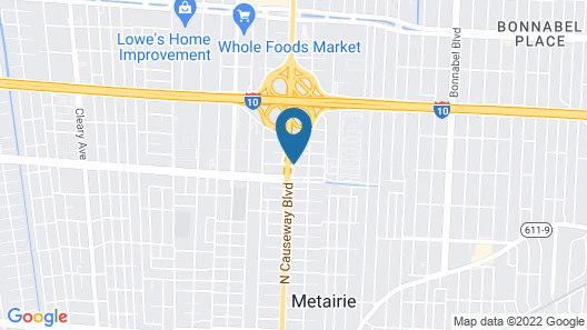Holiday Inn Metairie New Orleans Airport Map