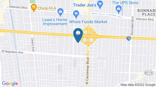 Extended Stay America Suites New Orleans Metairie Map