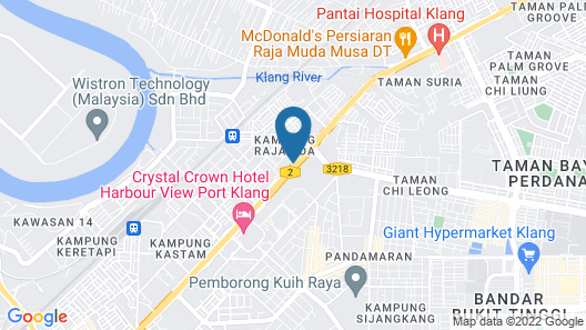 Talents Motor Park Hotel Map
