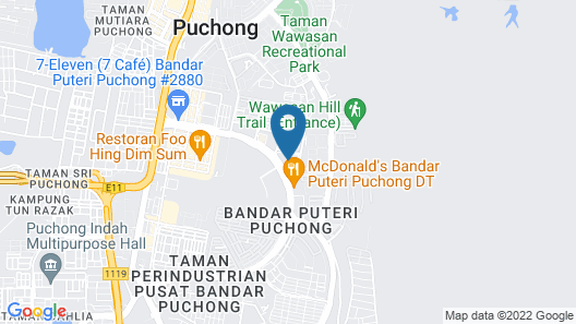 Le Pavillion Puchong by Widebed Map