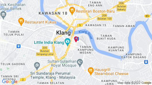 Station Hotel Klang Map