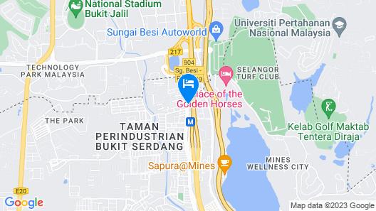 Serdang Business Hotel Map