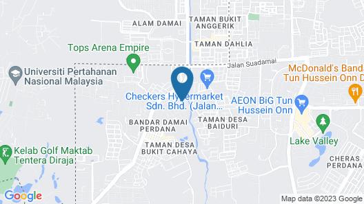 Cheras TY Cozy Homestay Map