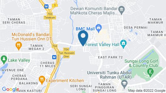 Orkid Inn Mahkota Cheras Map