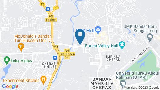 1 Hotel Mahkota Cheras Map