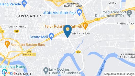 New Town Hotel Taman Intan, Klang Map