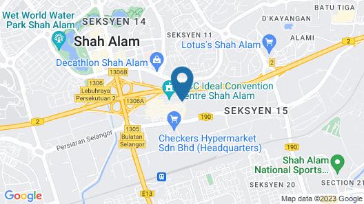 Pegasus Hotel Shah Alam Map