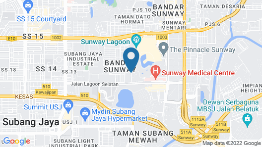 The Villas at Sunway Resort Hotel & Spa Map