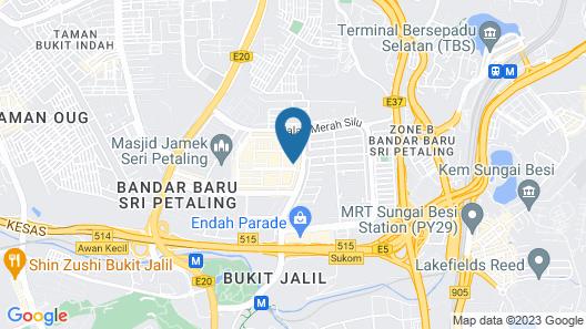 Bunk & Bilik Hotel Sri Petaling Map