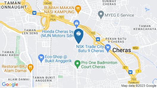 OYO 317 Citytop Hotel Map