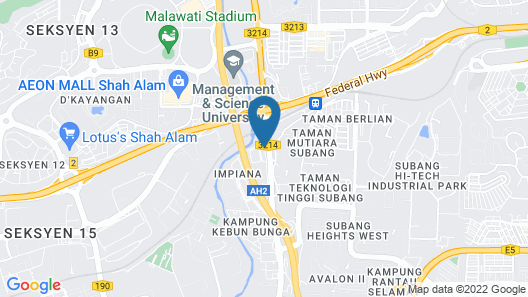 New Wave Shah Alam Hotel Map