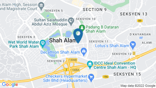 Shah Alam Business Hotel Map