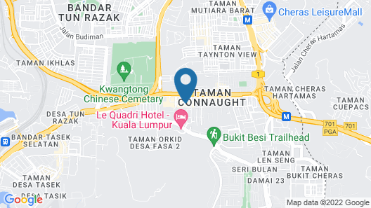LSN Hotel Taman Connaught Map