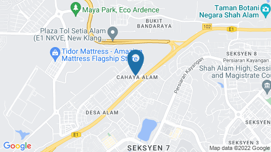 Minimalist 2.5 Storey House in Shah Alam City Map