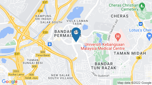 Amazon Hotel Cheras Map