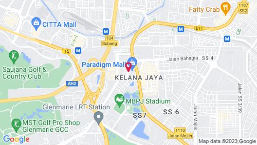 New World Petaling Jaya Map