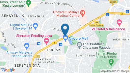 Sheraton Petaling Jaya Hotel Map