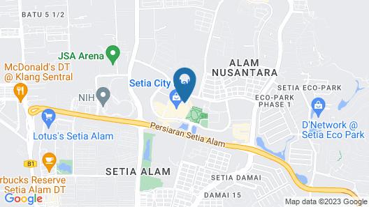 De Houz - Trefoil Setia Alam Home Stay Map