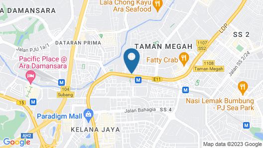 Hotel 99 - Kelana Jaya Map