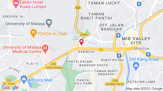 Pullman Kuala Lumpur Bangsar Map