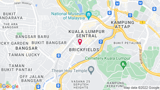 Ascott Sentral Kuala Lumpur Map