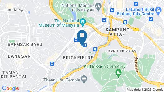 Hotel Sentral Kuala Lumpur Map