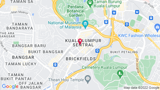 Aloft Kuala Lumpur Sentral Map