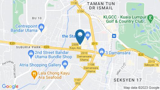 De UPTOWN Hotel @ Damansara Uptown Map