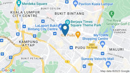 Hotel Sentral Pudu Map
