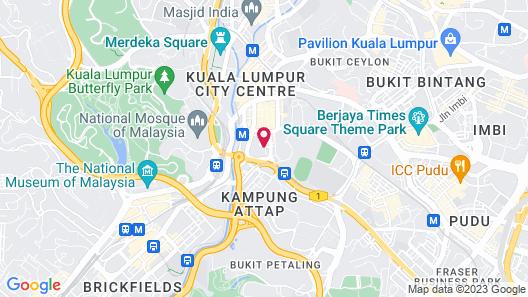 Four Points by Sheraton Kuala Lumpur, Chinatown Map