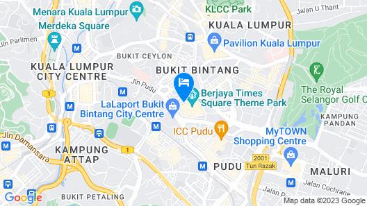 Berjaya Times Square Hotel, Kuala Lumpur Map