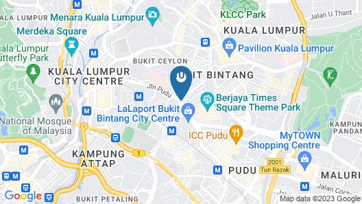 Hotel Alibaba Bukit Bintang Map