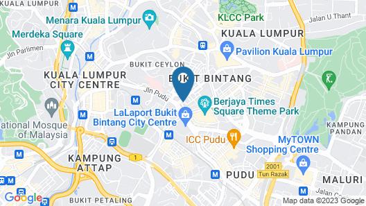 Sky Hotel Bukit Bintang Map