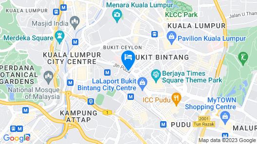 Swiss-Garden Hotel Bukit Bintang Kuala Lumpur Map