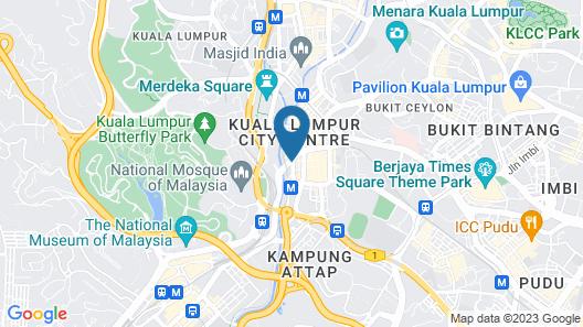 Travelodge City Centre Map