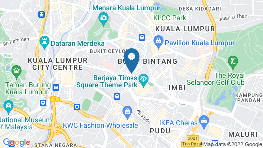 Federal Hotel Kuala Lumpur Map