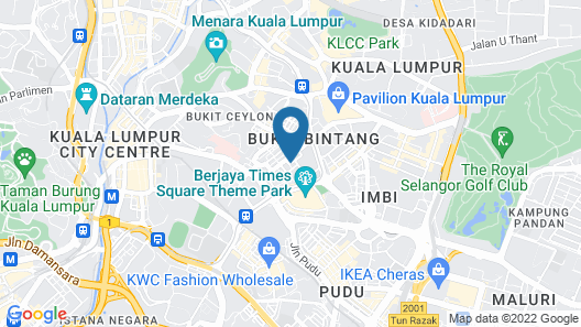 Hotel Capitol Kuala Lumpur Map