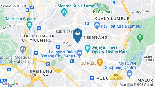 Travelodge Bukit Bintang Map