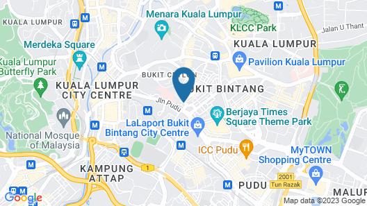 Corona Inn Hotel, Bukit Bintang Map