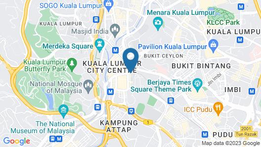 Ancasa Hotel & Spa Kuala Lumpur Map