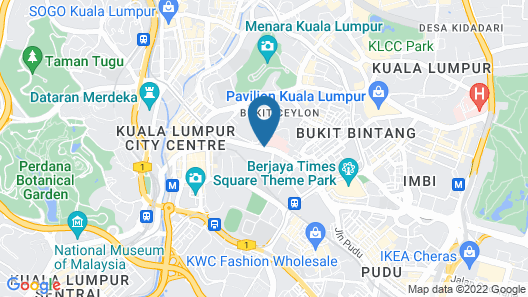 citizenM Kuala Lumpur Bukit Bintang Map