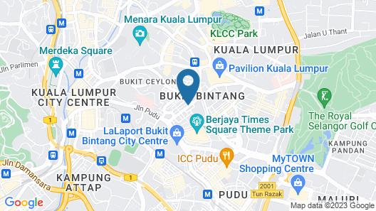 Bintang Warisan Hotel Map