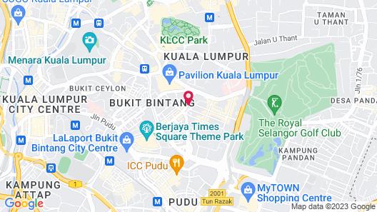 Tribeca Hotel and Serviced Suites Bukit Bintang Map