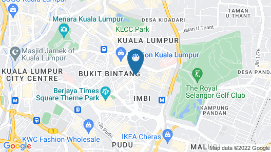 Tribeca Hotel and Serviced Suites Bukit Bintang  Map