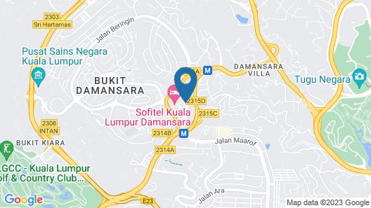 Sofitel Kuala Lumpur Damansara Map