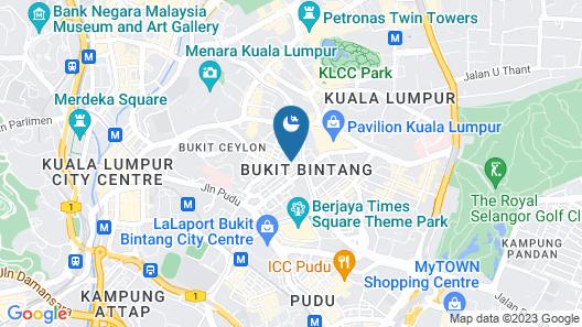 Izumi Hotel Bukit Bintang Map