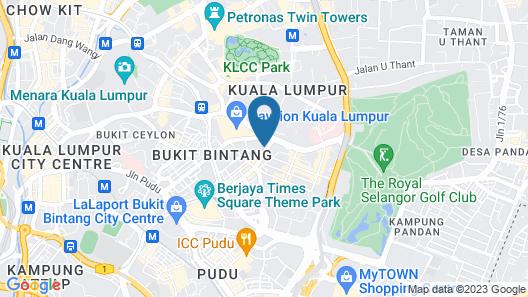 Dorsett Residences Bukit Bintang at Dorsett Kuala Lumpur Map