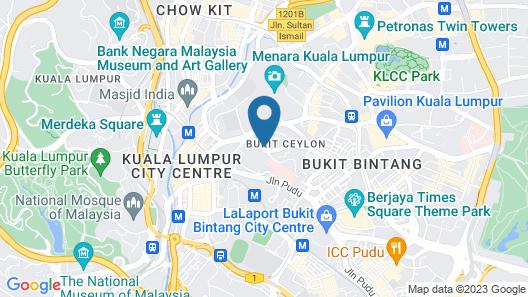 Suasana Suites Bukit Ceylon Map
