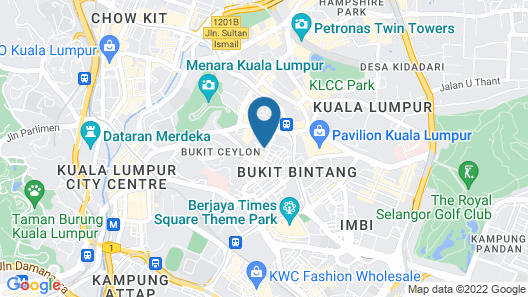 PARKROYAL Serviced Suites Kuala Lumpur Map