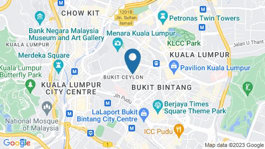 Verdant Hill Hotel Kuala Lumpur Map
